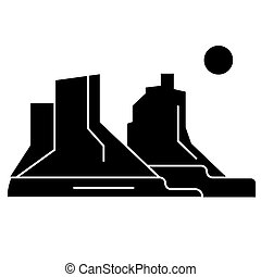 grand canyon  icon, vector illustration, sign on isolated background