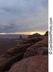 Grand canyon in America - Grand canyon, Hunts mesa in...