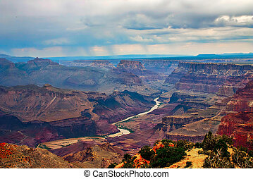 Grand Canyon in evening light.