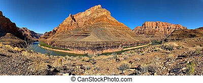 Grand Canyon - Lake Mead Entrance - Panoramic View of the ...