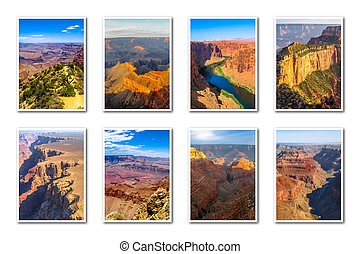 Grand Canyon landscapes collage