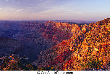 Grand Canyon National Park - Sunset View of the Grand Canyon...