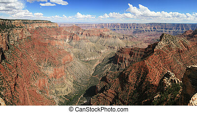 Grand Canyon panorama - Panorama of the Grand Canyon from...