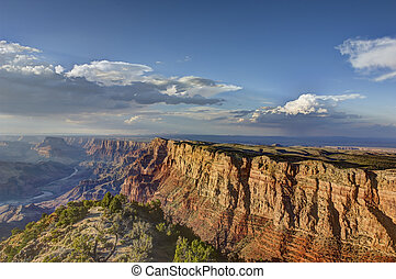 Grand Canyon South Rim - Wide angle image of Grand Canyon...