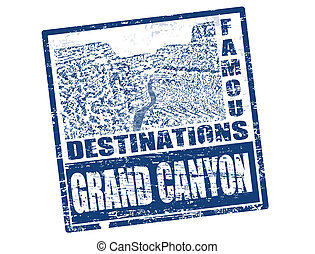 Grand Canyon stamp - Grunge rubber stamp with the Grand...