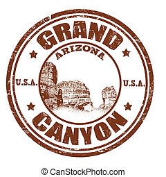 Grand Canyon stamp - Grunge rubber stamp with the name of...