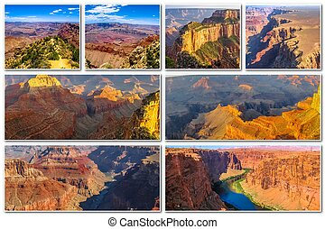 Grand Canyon sunset collage