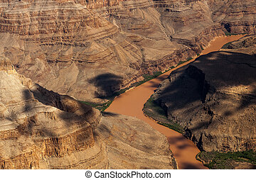 grand canyon, und, colorado fluß