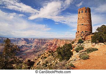 Grand Canyon Watchtower - Grand Canyon watchtower at the ...