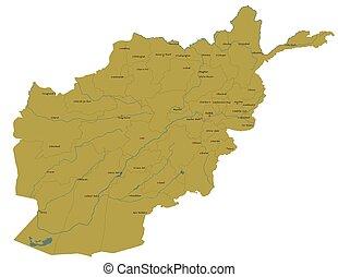 grand, carte, afghanistan