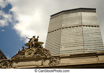 Grand Central Station and the Met Life building, NYC