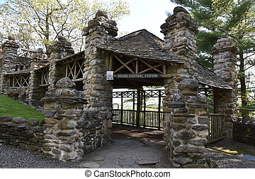 Grand Central Stations at Gillette Castle State Park in East...