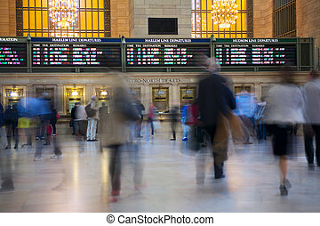 Grand Central Terminal - People moving in Grand Central...