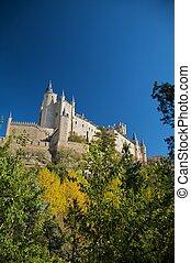 grand, château, espagnol
