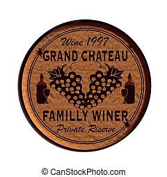 grand chateau - Label stamp with text Grand chateau on vecto...