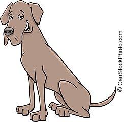 grand, chien, danois, dessin animé