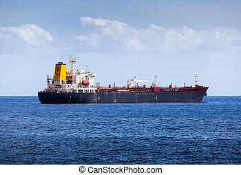 grand, chimique, pétrolier, dans, océan atlantique