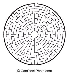 grand, circulaire, labyrinthe