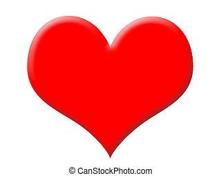 grand, coeur rouge