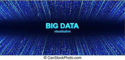 grand, coloré, visualisation, fond, données