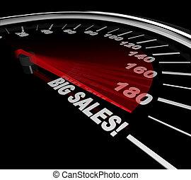 grand, compteur vitesse, -, ventes, mots