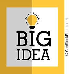 grand, concept, idée
