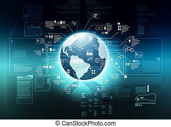 grand, concept, technologie, internet, données