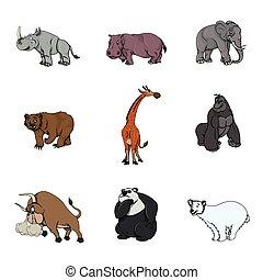 grand, conception, animal, illustration