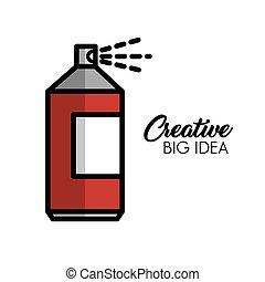 grand, créatif, idée, icônes