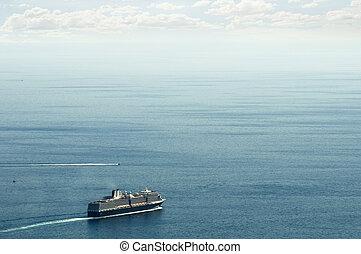grand, croisière bateau