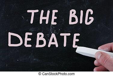 grand, débat
