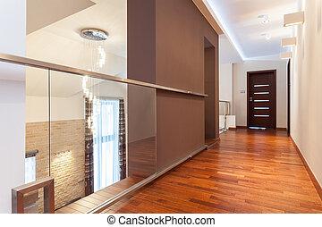 Grand design - modern corridor in elegant house