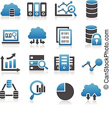 grand, données, icône