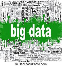 grand, données, mot, nuage