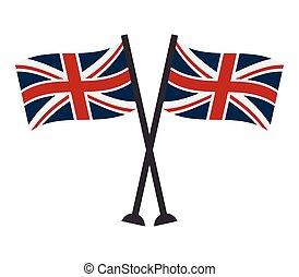 grand, drapeau, grande-bretagne
