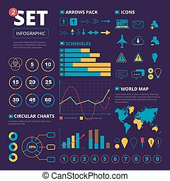 grand, ensemble, elements., infographics