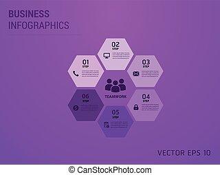 grand, ensemble, eps10., elements., infographics