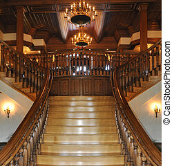 Grand entrance to a mansion