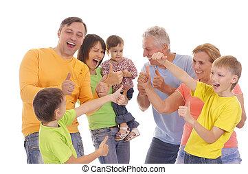 grand, famille blanche
