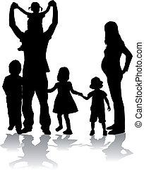 grand, famille