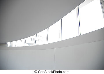 grand, fenêtre, blanc, bureau