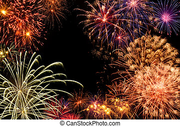 Grand fireworks display - Fantastic multi-colored fireworks...