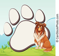 grand, frontière, conception, chien