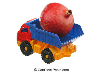 grand, grenade, camion