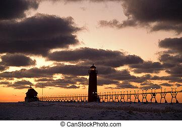 Grand Haven Lighthouse, Grand Haven, Michigan, USA