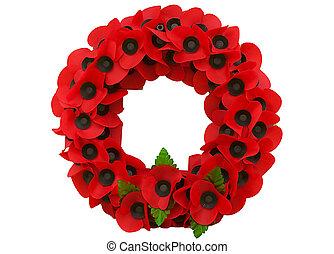 grand, jour, flandre, pavot, souvenir, guerre mondiale