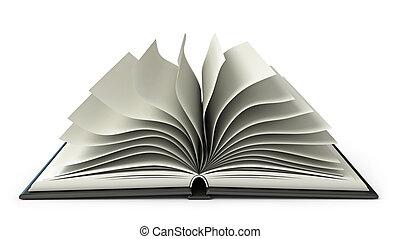 grand livre, ouvert