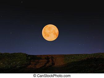 grand, lune