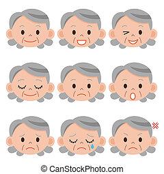 grand-mère, expression