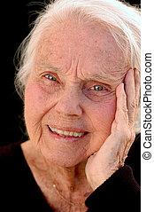 grand-mère, grand, agréable